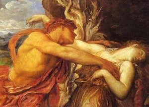 George Frederick Watts - Orpheus and Eurydice (detail)