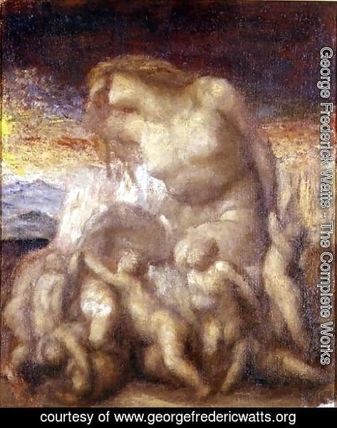 George Frederick Watts - Study for 'Evolution'