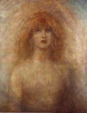 George Frederick Watts - Uldra, The Scandinavian Spirit of the Rainbow in the Waterfall, 1884
