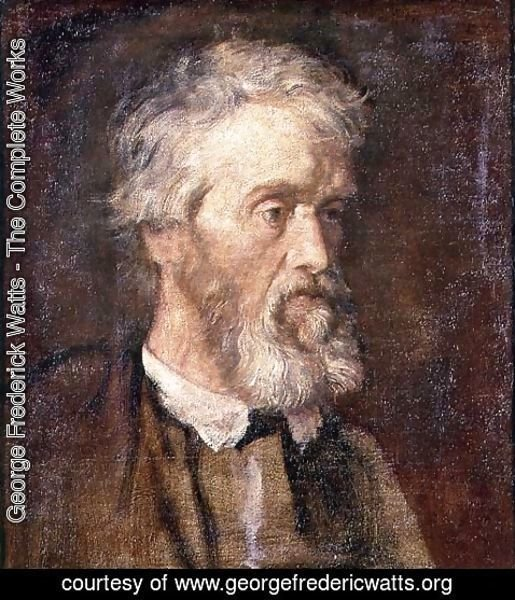 George Frederick Watts - Portrait of Thomas Carlyle (1795-1881)