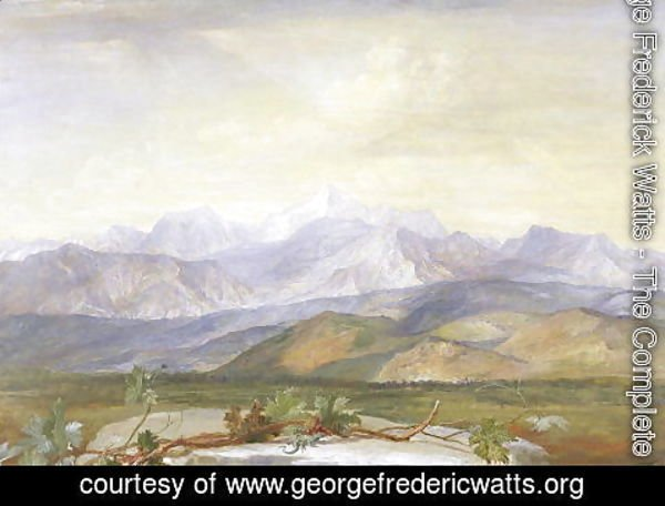 George Frederick Watts - The Carrara Mountains, c.1876-80