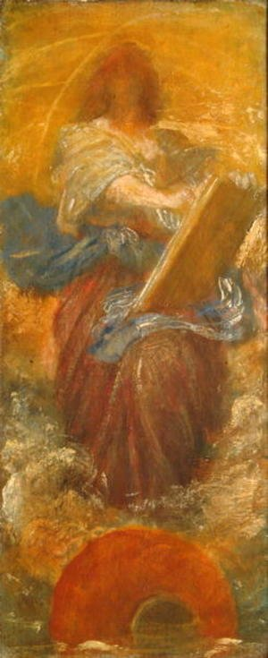 George Frederick Watts - A Recording Angel