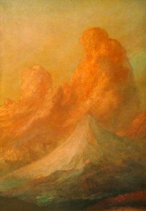 George Frederick Watts - Sunset on the Alps, 1888