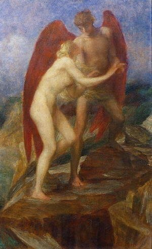 George Frederick Watts - Study for 'Love and Life', 1880s
