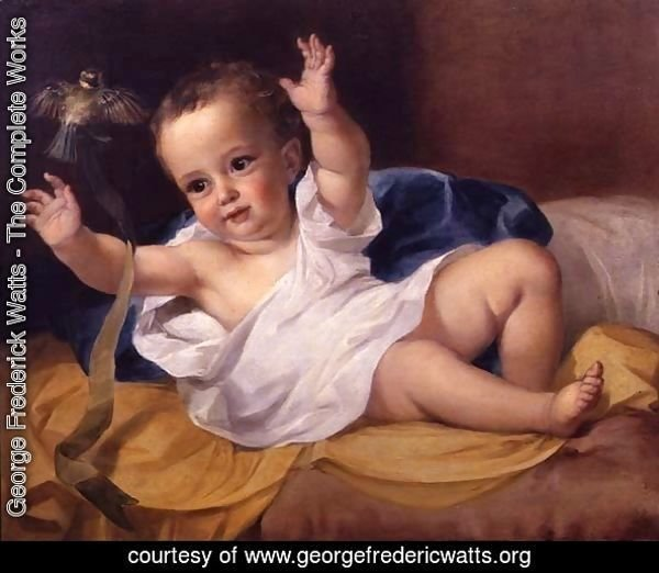 Gerald Hamilton as an infant, 1839