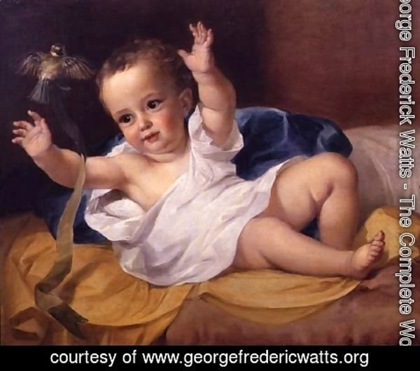 George Frederick Watts - Gerald Hamilton as an infant, 1839