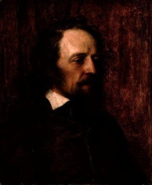George Frederick Watts - Alfred, Lord Tennyson (1809-92) 1858