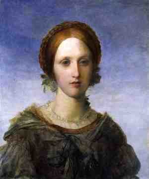 George Frederick Watts - 'Isabella', a Portrait of Miss Arabella Prescott, 1857