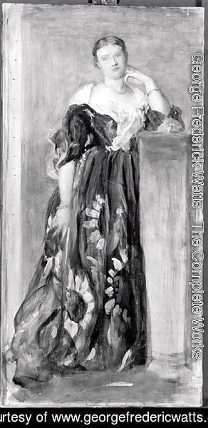 George Frederick Watts - The Hon. Mrs Percy Wyndham, sketch for the life size portrait