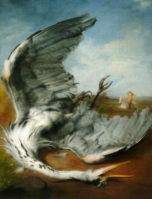 George Frederick Watts - The Wounded Heron, 1837