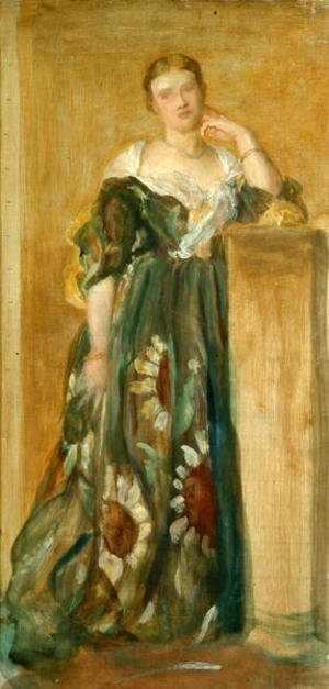 George Frederick Watts - Sketch for a portrait of Mrs Percy Wyndham, 1867-71
