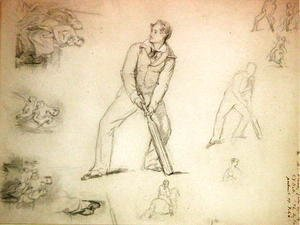 George Frederick Watts - Sketch of a a cricketer