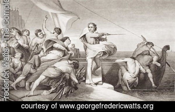 George Frederick Watts - King Alfred inciting the Anglo-Saxons to repel the invasion of the Danes in AD 876, from 'Illustrations of English and Scottish History' Volume I