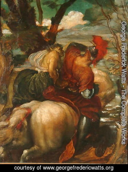 George Frederick Watts - Odoric (1286-1331) and the Witch