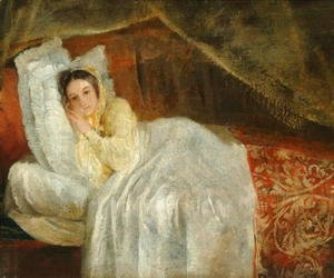 George Frederick Watts - Lady on a day-bed, 1844