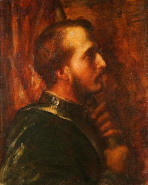 George Frederick Watts - The Standard Bearer, 1866