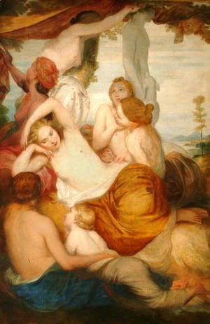 George Frederick Watts - Diana's Nymphs, 1846