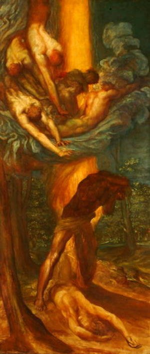 George Frederick Watts - The Denunciation of Cain, c.1872