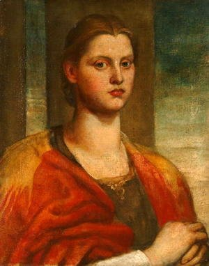 George Frederick Watts - A Fair Saxon, c.1870