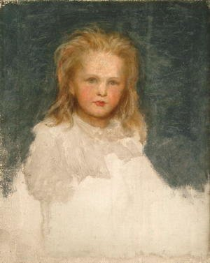 George Frederick Watts - Portrait of a Girl with Fair Hair