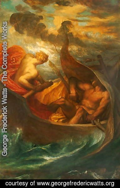 George Frederick Watts - Love steering the Boat of Humanity, c.1900