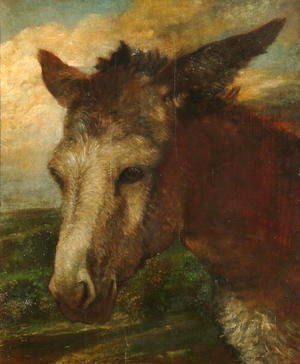 George Frederick Watts - Head of an Ass, c.1863