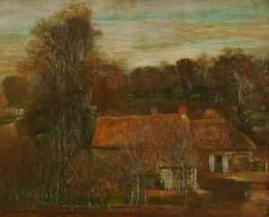 George Frederick Watts - Farm Buildings, Freshwater, 1875