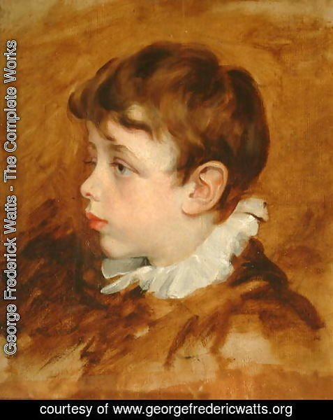 George Frederick Watts - Boy's Head, 1836