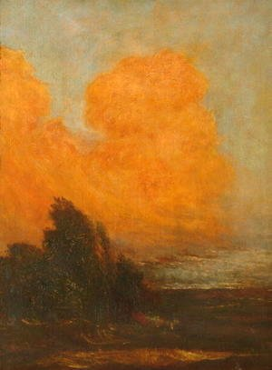 George Frederick Watts - Evening Landscape, c.1890