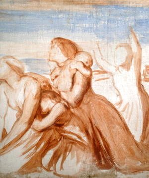 George Frederick Watts - Study for fresco of Coriolanus for Bowood House, c.1860 2