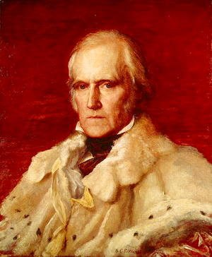 George Frederick Watts - Portrait of Stratford Canning (1786-1880), Viscount Stratford de Redcliffe (1856-7)