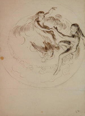 George Frederick Watts - Study for a circular ceiling decoration