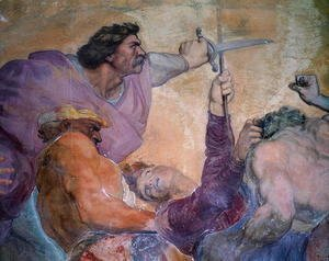 George Frederick Watts - Detail of Punishment of the Doctor, Villa Medicea di Careggi
