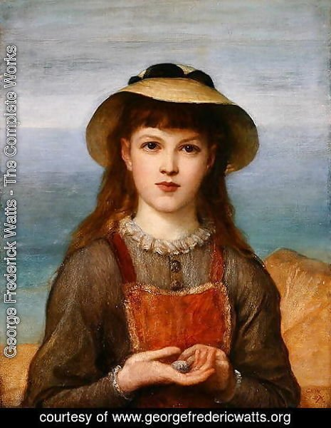 George Frederick Watts - Study- Head of a Girl, 1876