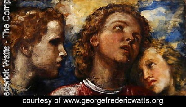 George Frederick Watts - Sketch of three heads