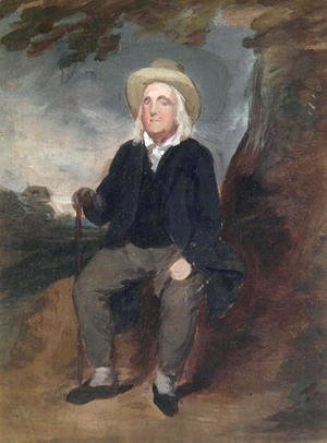 Jeremy Bentham in an imaginary landscape, 1835