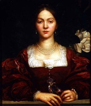 George Frederick Watts - Portrait of Countess of Airlie