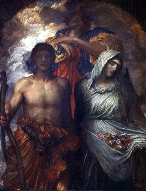 George Frederick Watts - Time, Death and Judgement, c.1895