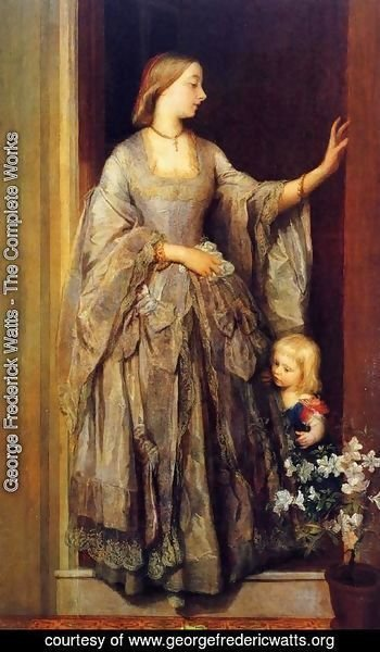 George Frederick Watts - Lady Margaret Beaumont and her Daughter