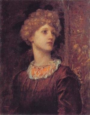 George Frederick Watts - A Portrait of Dorothy Dene