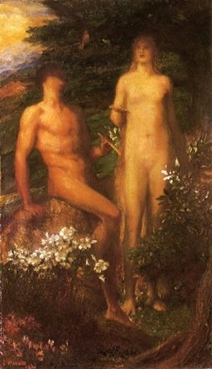 George Frederick Watts - Adam and Eve Before The Temptation
