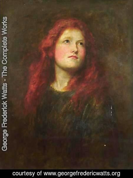 Portrait Study of a Girl with Red Hair