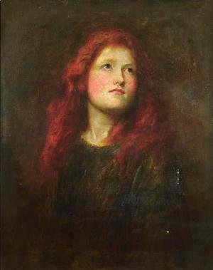 George Frederick Watts - Portrait Study of a Girl with Red Hair