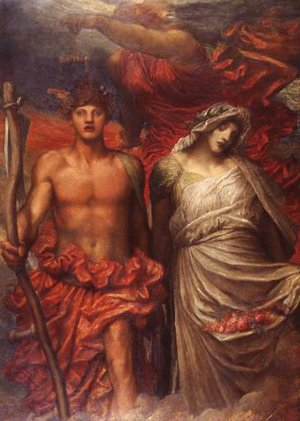 George Frederick Watts - Time, Death and Judgement