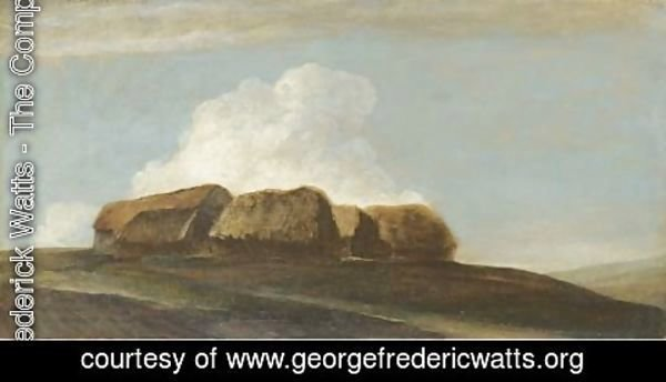George Frederick Watts - Haystacks (Study on Brighton Downs)