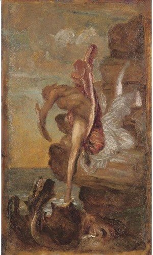 George Frederick Watts - Perseus and Andromeda a sketch