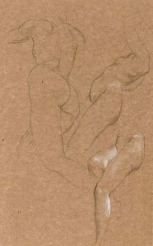 Nude Studies Of Long Mary, Two Being Studies For Eve Tempted