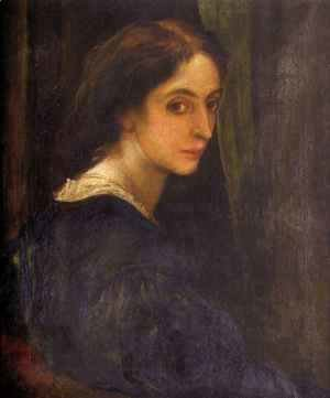 George Frederick Watts - Portrait Of Aglaia Coronio