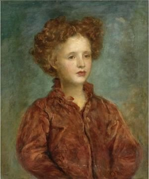 George Frederick Watts - Portrait Of A Young Titled Girl