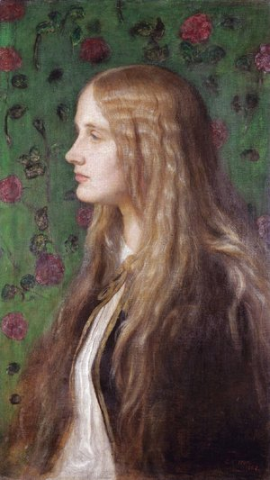 George Frederick Watts - Portrait Of Edith Villiers, Later The Countess Of Lytton